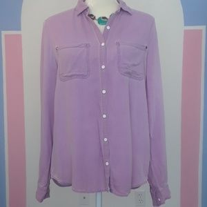 About a girl lavender long sleeve shirt m